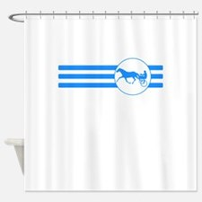 Harness Racing Stripes (Blue) Shower Curtain