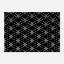 Flower Of Life Big Ptn Gb 5'x7'area Rug