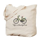 Life is bike Canvas Bags