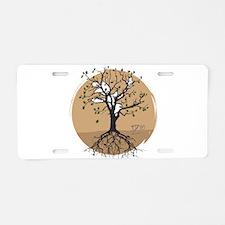 Pulminary Oak Aluminum License Plate
