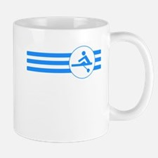 Rower Stripes (Blue) Mugs