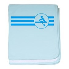 Rower Stripes (Blue) baby blanket