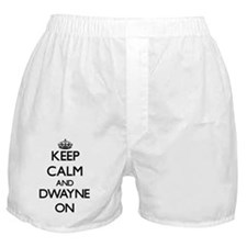 Keep Calm and Dwayne ON Boxer Shorts