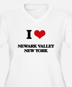 I love Newark Valley New York Plus Size T-Shirt