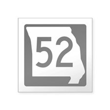 """Route 52, Missouri Square Sticker 3"""" x 3"""""""