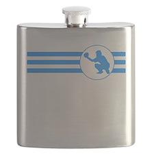 Baseball Catcher Stripes (Blue) Flask