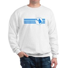 Baseball Catcher Stripes (Blue) Sweatshirt