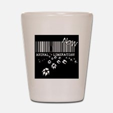 Funny Animal rights Shot Glass