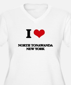 I love North Tonawanda New York Plus Size T-Shirt