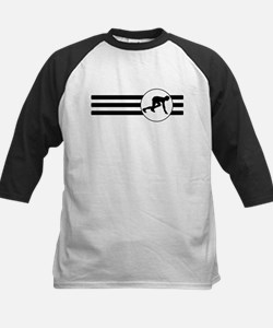 Runner Crouched Stripes Baseball Jersey