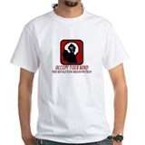 Occupy your mind Mens White T-shirts