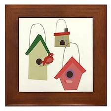 Bird House Framed Tile