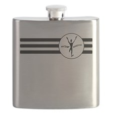 First Place Finish Stripes Flask