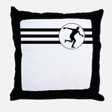 Discus Throw Stripes Throw Pillow