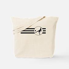 Soccer Player Stripes Tote Bag