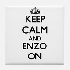 Keep Calm and Enzo ON Tile Coaster