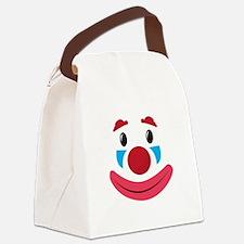 Clown Face Canvas Lunch Bag