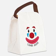 Clown Around Canvas Lunch Bag