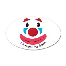 Survived the Clowns Wall Decal
