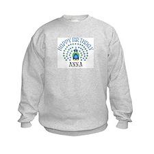 Happy Birthday ANNA (peacock) Sweatshirt