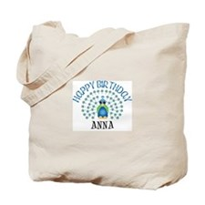 Happy Birthday ANNA (peacock) Tote Bag