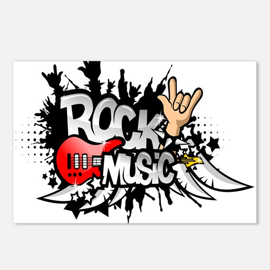 Rock Music Postcards (Package of 8)