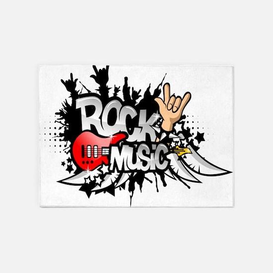Rock Music 5'x7'Area Rug