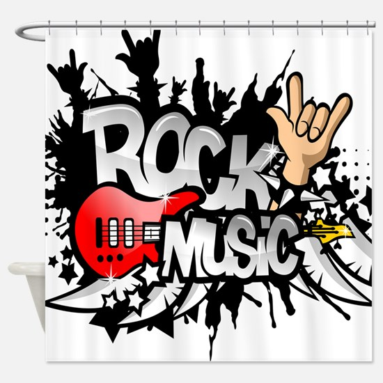 Rock Music Shower Curtain