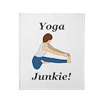 Yoga Junkie Throw Blanket