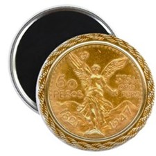 """Mexican Oro Puro w/bezel on 2.25"""" Magnet (100 pack"""