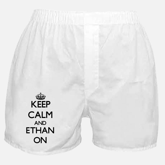 Keep Calm and Ethan ON Boxer Shorts