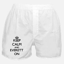 Keep Calm and Everett ON Boxer Shorts