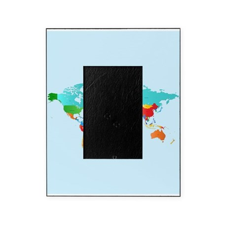 world map picture frame by wickeddesigns4. Black Bedroom Furniture Sets. Home Design Ideas