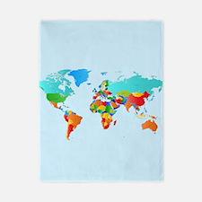 World Map Twin Duvet