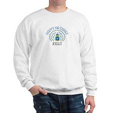 Happy Birthday KELLY (peacock Sweatshirt