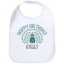 Happy Birthday KELLY (peacock Bib