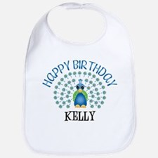 Happy Birthday KELLY (peacock Bib
