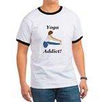 Yoga Addict Ringer T