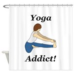Yoga Addict Shower Curtain
