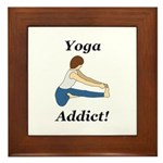 Yoga Addict Framed Tile
