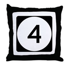 Highway 4, Mississippi Throw Pillow