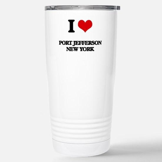 I love Port Jefferson N Stainless Steel Travel Mug
