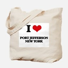 I love Port Jefferson New York Tote Bag