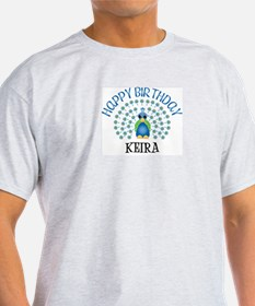 Happy Birthday KEIRA (peacock T-Shirt