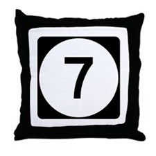 Highway 7, Mississippi Throw Pillow