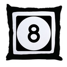 Highway 8, Mississippi Throw Pillow