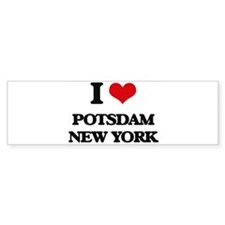 I love Potsdam New York Bumper Car Sticker