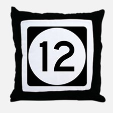 Highway 12, Mississippi Throw Pillow