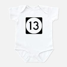 Highway 13, Mississippi Infant Bodysuit