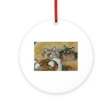 Burmese Cats Ornament (Round)